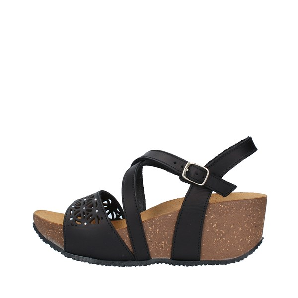 BIONATURA Shoes Women  With wedge BLACK 24A810ETNIC