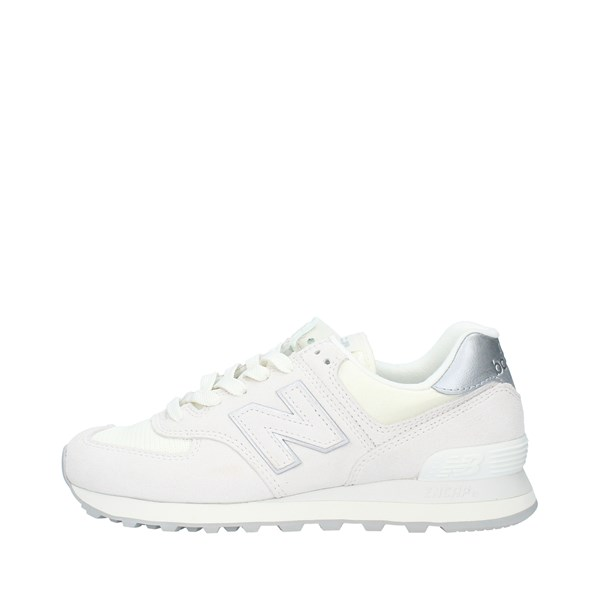 NEW BALANCE Sports shoes Women SEA SALT WHITE SILVER WL574