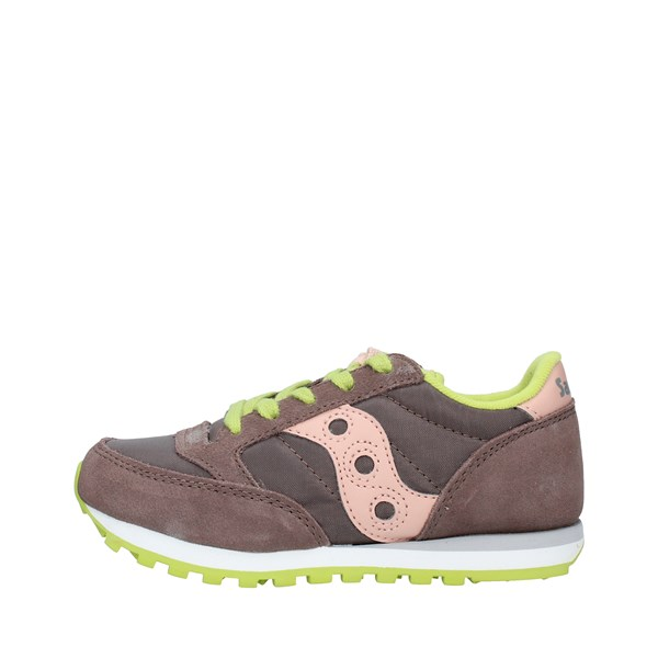 SAUCONY Sports shoes Boys BROWN PINK JAZZKIDSC