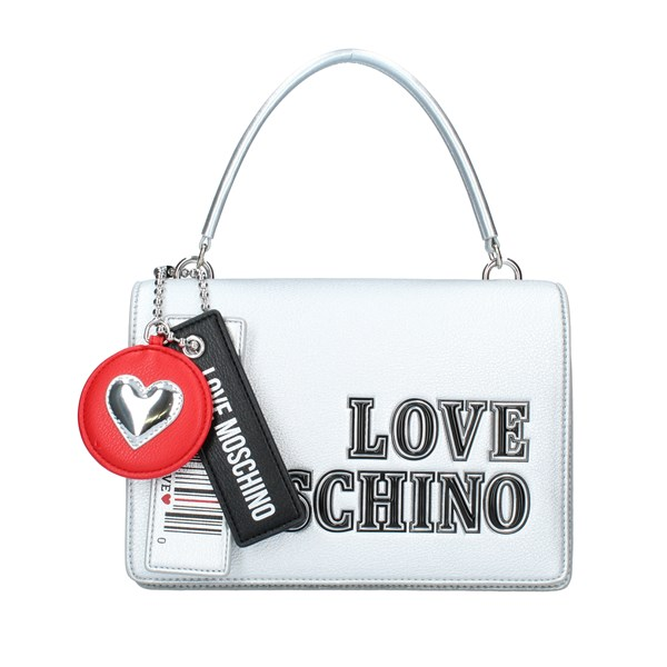 LOVE MOSCHINO Bags Women Shoulder straps & Messenger SILVER JC4238PP0BKG0