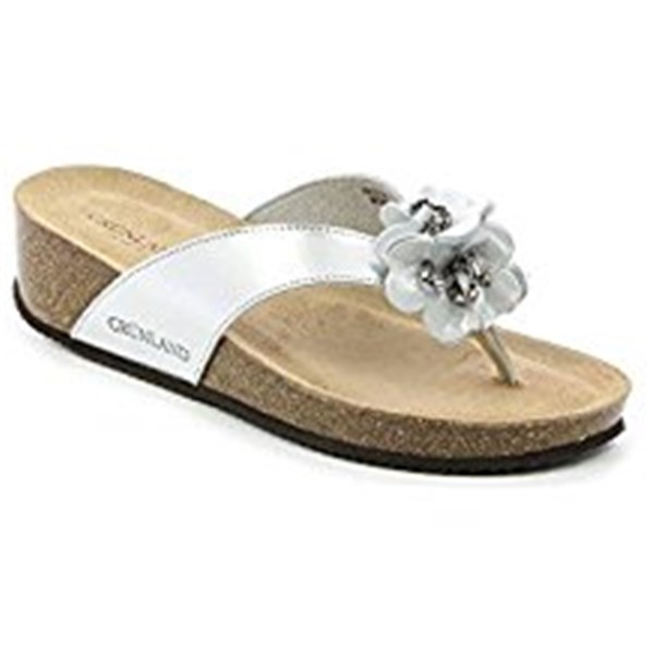 GRUNLAND Shoes Women Flops SILVER ANIN.CB1610
