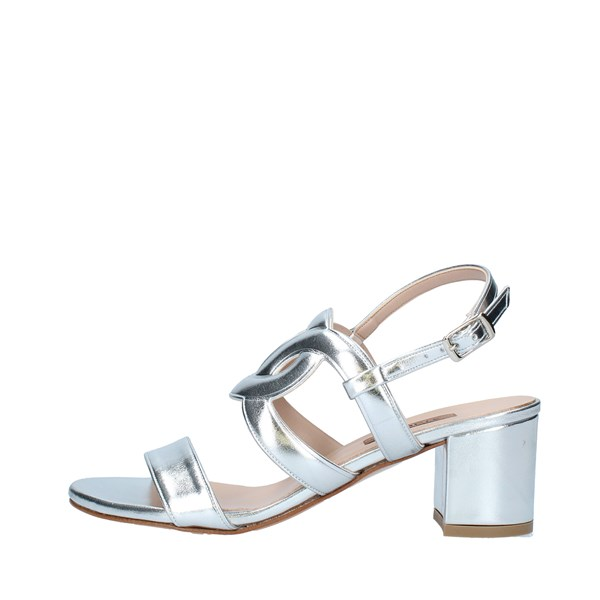 ALBANO Shoes Women With heel SILVER 2054