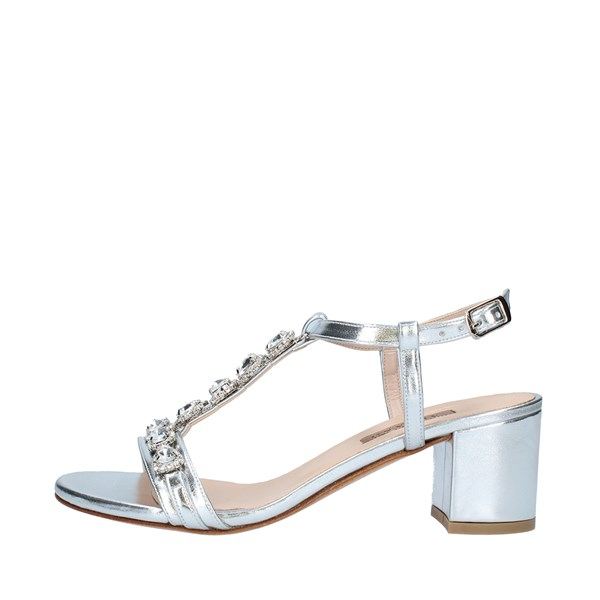 ALBANO Shoes Women With heel SILVER 2259