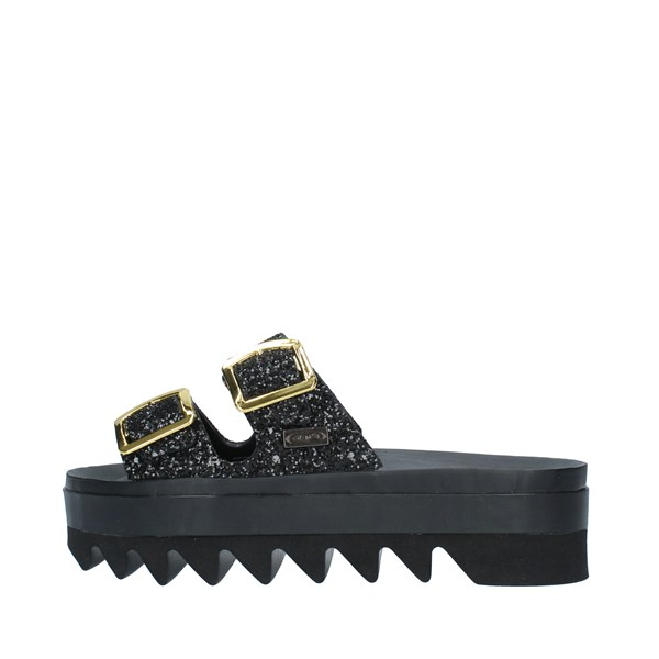SENSI Shoes Women slippers BLACK 4181G